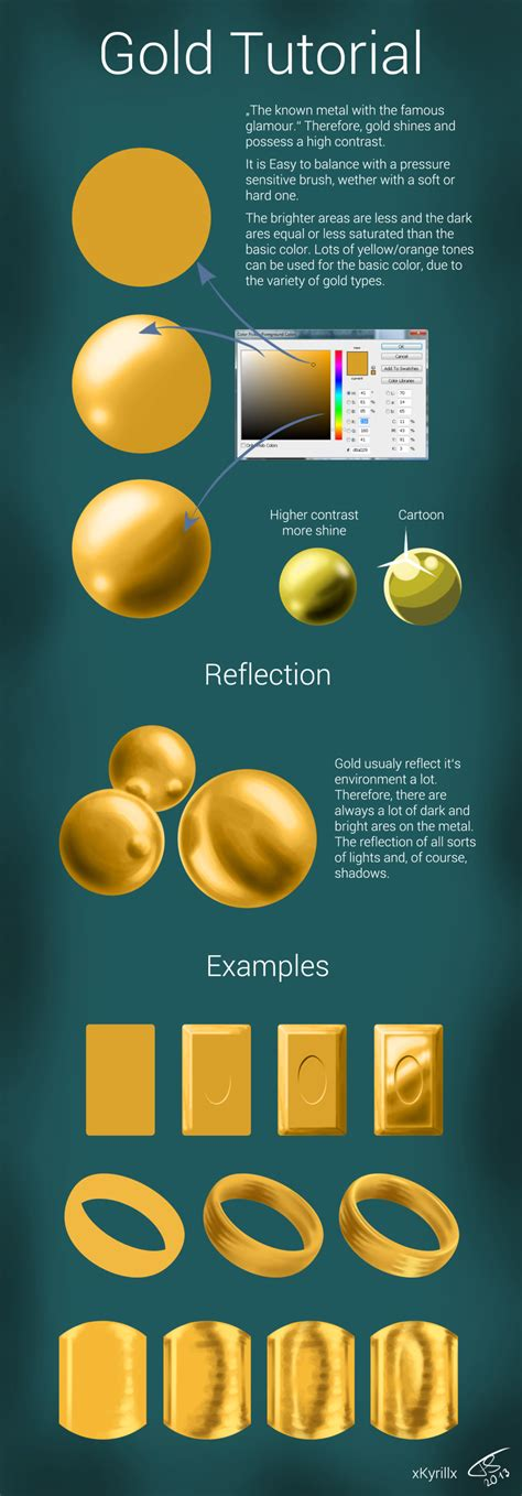 how to paint gold color gold tutorial by xkyrillx on deviantart