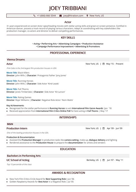 Sle Acting Resumes by Acting Resume In 2019 A 10 Step Guide To Actor Resume