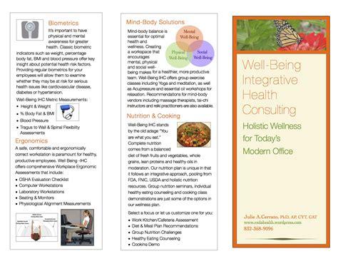 Health Coach Brochure Templates by Wellness Brochure Veda Health