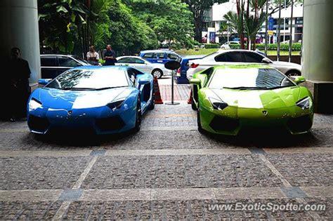 lamborghini limousine blue lamborghini aventador spotted in kuala lumpur malaysia on