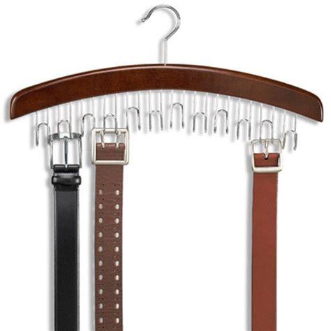 Belt Holder For Closet by 12 Hardwood Belt Tie Hanger With Chrome Hooks Wood Wooden