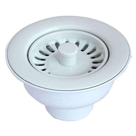 kitchen sink fittings waste mcalpine basket strainer waste white notjusttaps co uk 5802