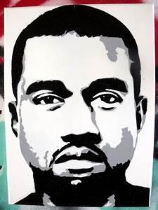 Kanye West stencil canvas by CRONENZ on DeviantArt