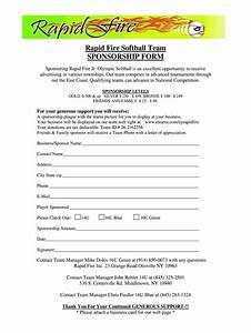Softball Sponsorship Form