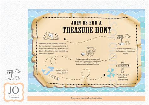treasure hunt for treasure hunt scavenger hunt themed treasure map invitation