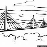 Bridge Millau France Pages Coloring Clipart Southern Clipground Thecolor sketch template
