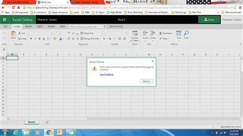 office  excel  prompts  session expired dialog