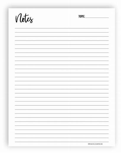 Printable Pages Planner Printables Notes Note Pad