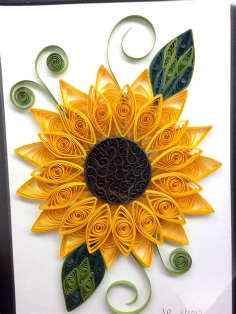 quilled sunflower paper quilling flowers  quilling