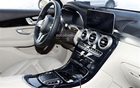 mercedes glc facelift spied reveals interior
