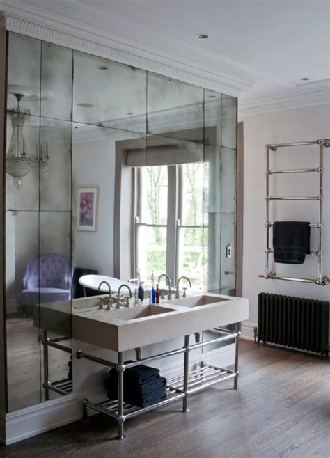 antique mirrored wallpaper mad   house