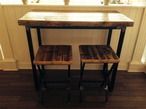 Industrial Mill Reclaimed Wood Breakfast Bar/console Table Pictures Of Painted Kitchen Cabinets Before And After English Lansing Mi Cabinet Hinges Uk Tampa Fl Kitchens With Green New Cost Estimator Tv In