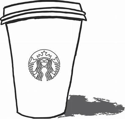 Starbucks Coloring Pages Olds Coffee Cups Colouring