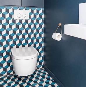 Deco Bleu Petrole : 1001 id es d co toilettes originales changer le ~ Farleysfitness.com Idées de Décoration
