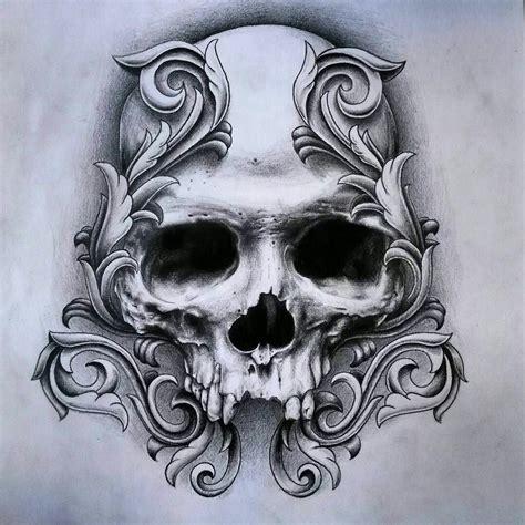 skull scroll art inspirations skulls skeletons   skull tattoos tattoos skull