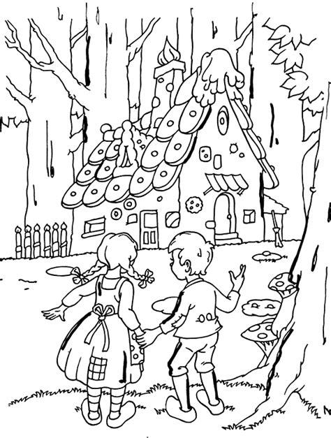 Kleurplaat Heks Hans En Grietje by Sprookjes Kleurplaten Hans En Grietje