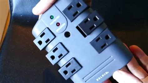 Belkin 6 Outlet Surge Protector - YouTube