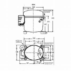 L Unite Hermetique Cae4456y Hbp R134a R49 Compressor Tubed