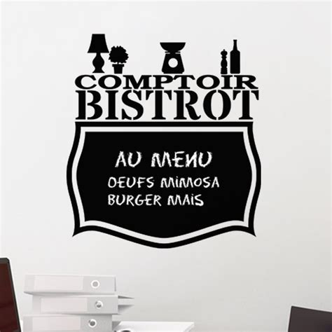 stickers ardoise cuisine sticker ardoise comptoir bistrot stickers cuisine