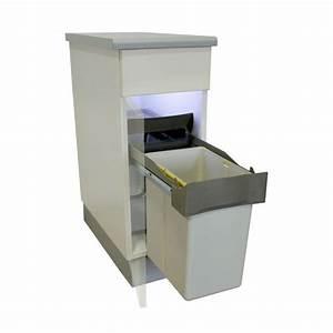 une astuce pour la cuisine la poubelle encastrable With meuble pour evier encastrable