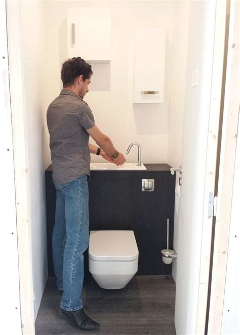 Wc Lave Intégré Image Result For Integrated Toilet And Sink гостевой туалет в 2019 г Toilet Room Small
