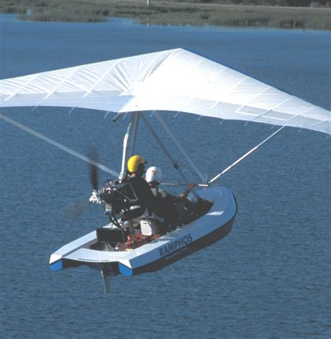 Hang Glider Boat by Multi Takeoff Flying Boat Powered Hang Glider T