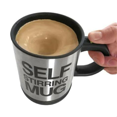 jual gelas pengaduk ajaib self stirring mug di lapak