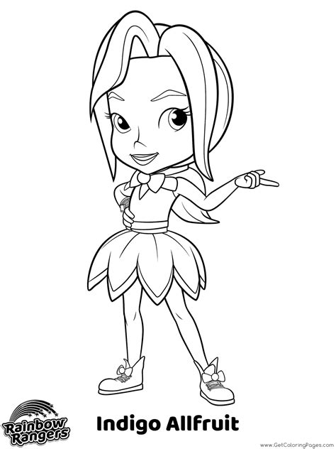 rainbow rangers coloring pages getcoloringpagescom