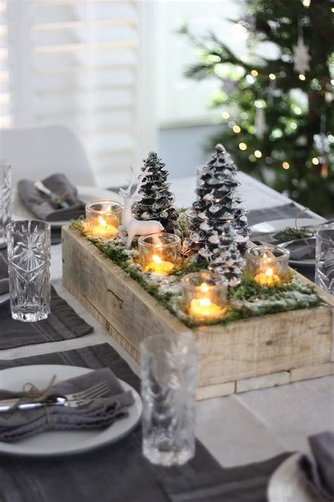 diy christmas table centerpiece recipes