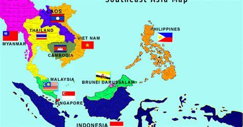 asean corner asean map  asian map
