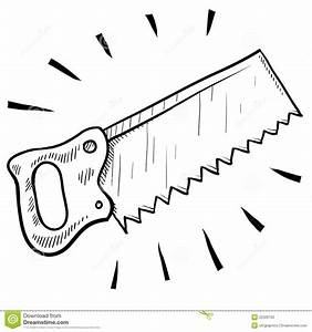 Wood saw sketch stock vector Image of home, blade, jigsaw