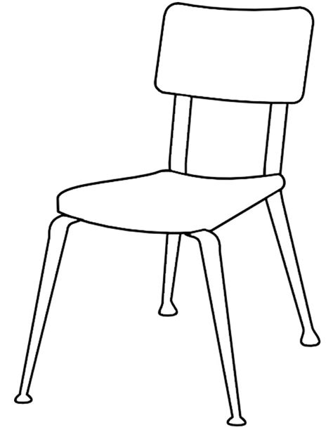 image chaise coloriage chaise à imprimer gratuitement