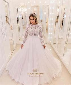 Princess Lace Top Tulle Ball Gown Wedding Dress With Lace ...