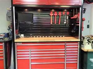 Custom Workbench and Hutch with Metal Slatwall - YouTube