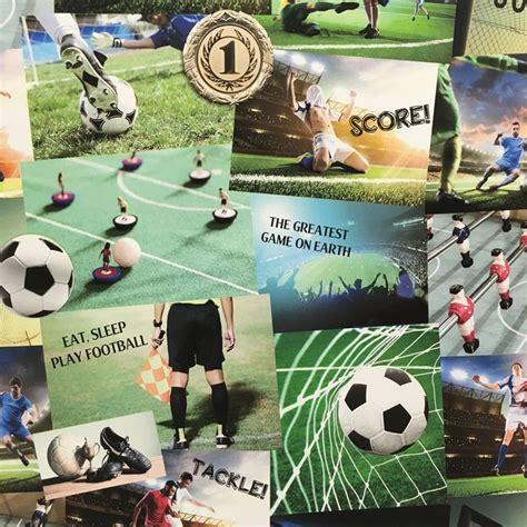 fine decor novelty football collage wallpaper