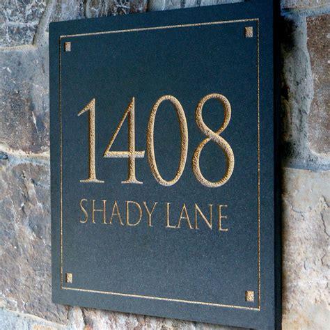 address plaques  homes homesfeed