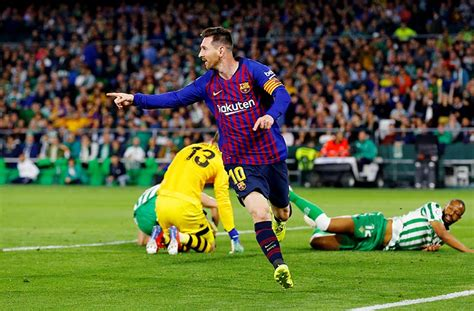 Marvellous Messi hits hat-trick as Barca torment Betis ...