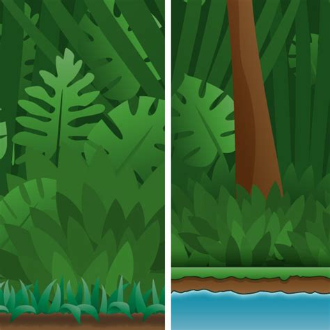 Jungle Background  Vertical  Game Art Guppy