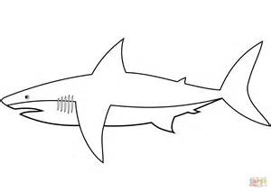 easy shark coloring page  printable coloring pages