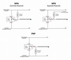 Ultrasonic Flow Meter Connections  U0026 External Pins
