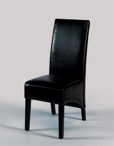 chaises salle à manger cuir chaise de salle a manger en cuir noir