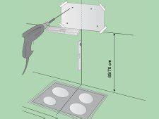hauteur de la hotte de cuisine hauteur standard d une hotte aspirante