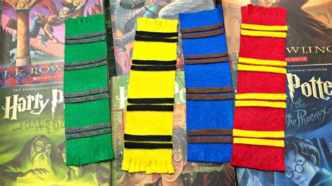 f13fb40501 Diy Hogwarts House Scarf Bookmark Felt Fabric Youtube