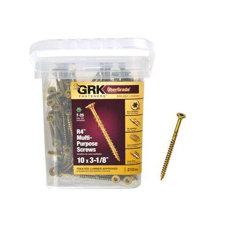 grk cabinet screws grk fasteners 10 x 3 1 8 in drive bugle r4