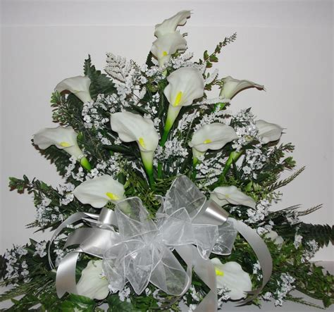 white calla lily bridal weddings altar silk flower babys