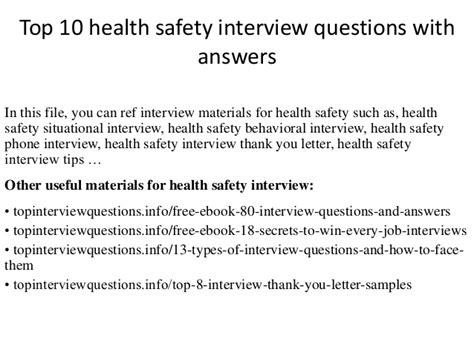 top  health safety interview questions  answers