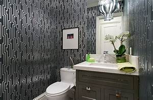 gorgeous wallpaper ideas for your modern bathroom With what kind of paint to use on kitchen cabinets for papier peint wc
