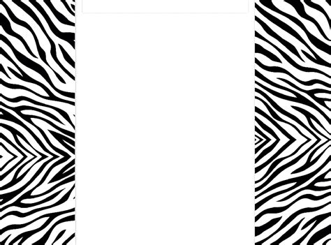 zebra border template clipartsco