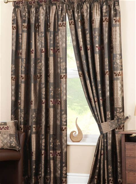 winchester chocolate pencil pleat ready made curtains