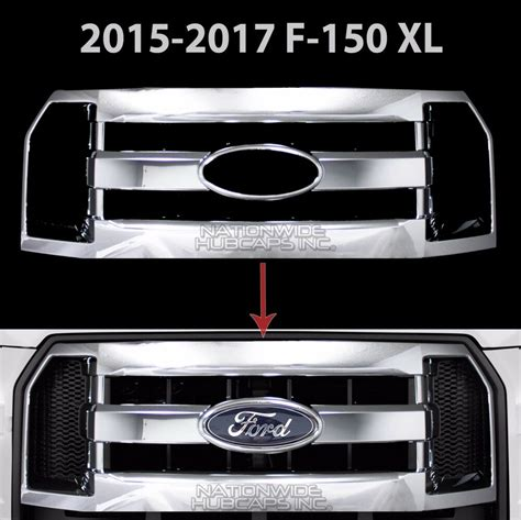 ford  xl chrome snap  grille overlay full